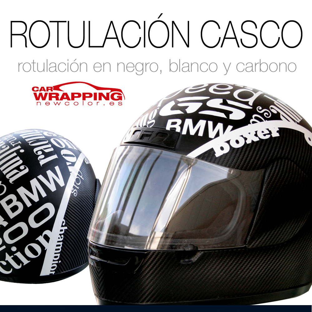Rotulación y Car Wrapping de casco integral