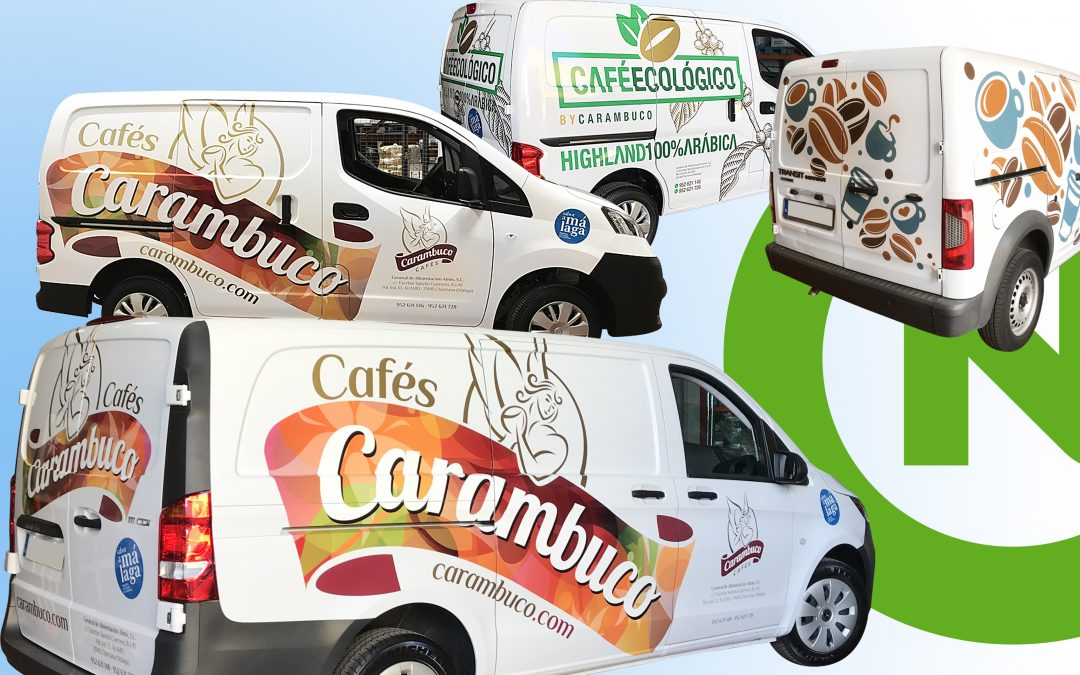 Rotulación de flota Cafés Carambuco